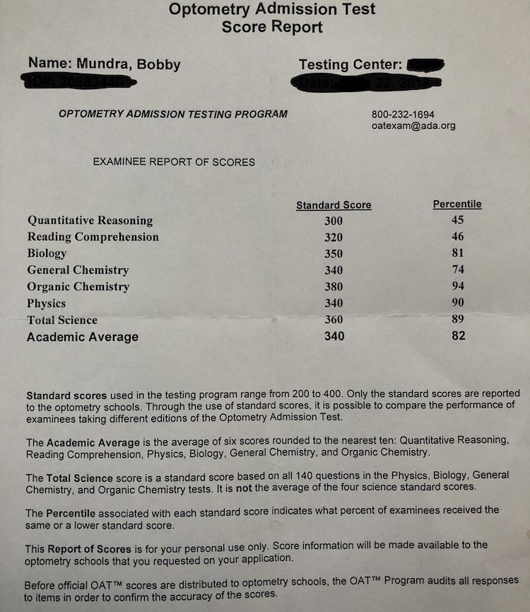Optometry Admission Test - Bobby Mundra